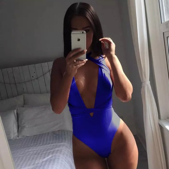 TIMELESSGEMS Other - Monokini/One Piece Blue Swim Suit Bathing Suit